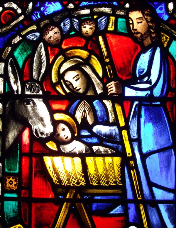 nativity stained glass